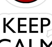 Keep Calm and Sharingan 2a larger eye Sticker