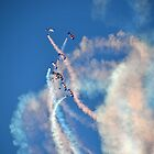 RAF Falcons Display 2 Lyme Dorset UK by lynn carter