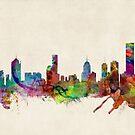 Melbourne Skyline Cityscape by Michael Tompsett