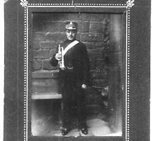 Joshua Ramsden with Cornet 1910 by Dennis Melling
