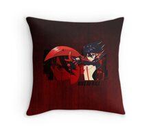 Red Scissor Blade Throw Pillow