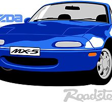 Mazda MX5 blue by car2oonz