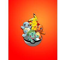 First Generation Pokemon Photographic Print