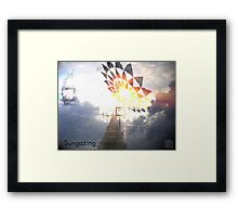 Sungazing Framed Print