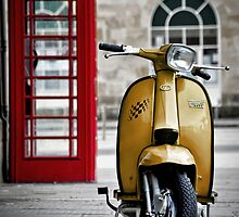 Yellow Lambretta GP by AJ Airey