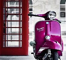 Italian Pink Vespa Rally 200 Scooter by AJ Airey