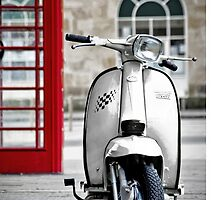 Italian White Lambretta GP Scooter by AJ Airey