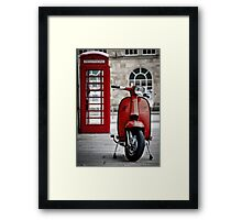 Italian Red Lambretta GP Scooter Framed Print