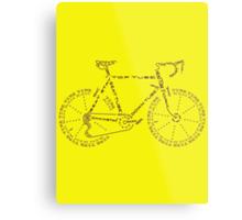 Bike in Words Metal Print