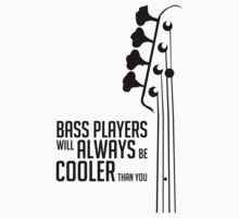 Bass Player - Always Cool! Bass Headstock - Black Color - Bass Guitarist - Bassist by designedbyn