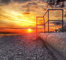 Bracklesham beach sunset by RyanHumpy