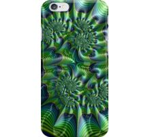 Abstract in Green and Blue iPhone Case/Skin
