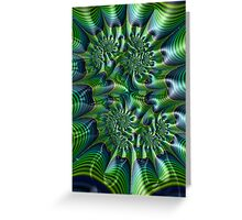 Abstract in Green and Blue Greeting Card