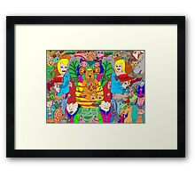 A hint of colourful symmetry Framed Print