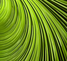 Green Flow Abstract by John Edwards