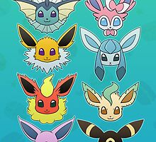 Eeveelutions by majahawt
