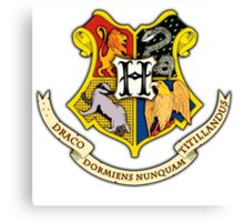 Hogwarts School Of Witchcraft and Wizadry Crest Canvas Print