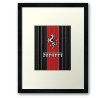 Ferrari Lover #3 [Silver - Red] Framed Print