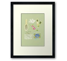 GIRLS STUFF Framed Print