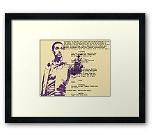 the Jesus Framed Print