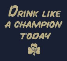 Drink Like a Champion - South Bend Style Dark Blue T-Shirt