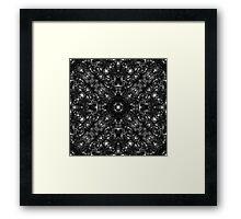 """""""Spirit of India: Dark Two Crosses"""" Framed Print"""