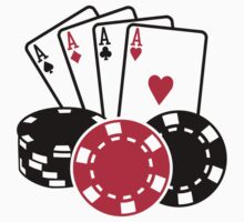 Poker cards chips by Designzz