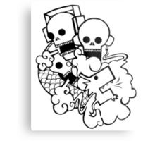 Skully Dragon Breath Metal Print