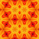 Kaleidoscope Geometry Pattern From Nature 32 by Kenneth Grzesik