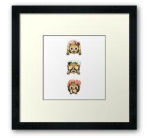 Floral monkeys Framed Print