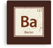 Vintage Bacon Periodic Table Element Canvas Print