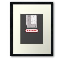 Blow Me - Vintage Nintendo Cartridge Framed Print