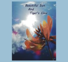 Beautiful Sun light and Tiger's Claw Kids Clothes