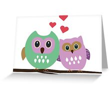 Owl couple Greeting Card