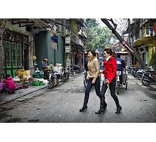 Vietnam: Striding Out Photographic Print