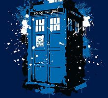 Tardis- Paint by Mellark90