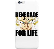 Majin Vegeta - Renegade For Life iPhone Case/Skin
