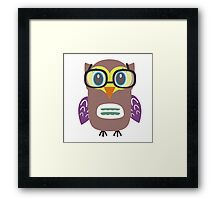 Nerdy owl  Framed Print