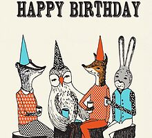 Happy Birthday - Garden Party  by Paper Sparrow