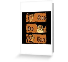 The Good The Bad the potato Greeting Card