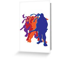 Teenage Mutant Ninja Silhouettes Greeting Card