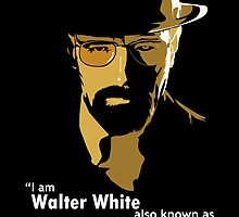 New Breaking Bad Walter White heisenberg Black T-shirt Only by Saint-Perfectio