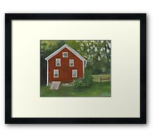 Vermont, red house Framed Print