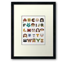 ABC3PO Framed Print