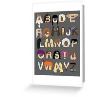 Harry Potter Alphabet Greeting Card