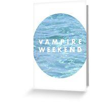Water Vampire Weekend Logo Greeting Card