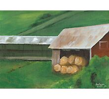 Vermont, red barn Photographic Print