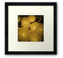 lanterns 2 Framed Print