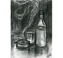 Cigarettes and Alcohol Photographic Print