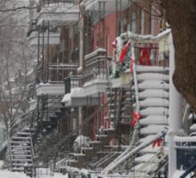 Montreal Winter Scene Sticker